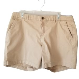 Old Navy Tan Mid-Rise 5 Inch Shorts